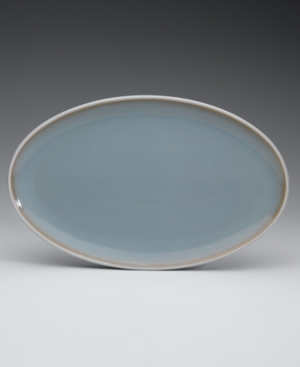 "Denby ""Mist"" Oval Platter, 16"""