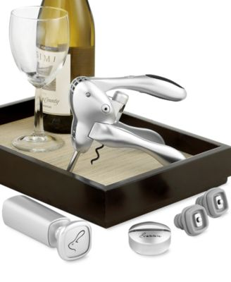 Metrokane Rabbit 6-Piece Corkscrew and Wine Preserver Set - A Macy's Exclusive