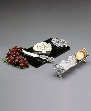 "Arthur Court ""Grape"" 3-Piece Cheese and Cracker Set"