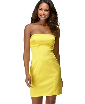 Democracy Stretch Satin Strapless Dress - Dresses - Women's - Macy's from macys.com