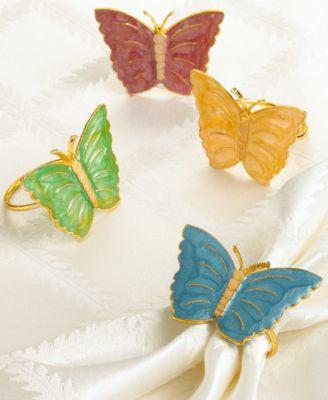 Lenox Set of 4 Butterfly Meadow Napkin Rings
