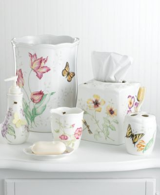 "Lenox ""Butterfly Meadow"" Trash Can"