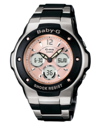 Baby-G Watch, Women's Black Resin Strap MSG300C-1B