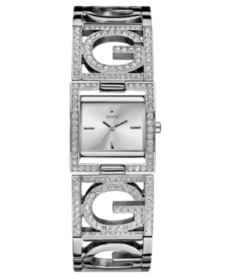 Guess Women's Crystal-Accented Bracelet Watch