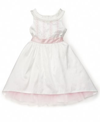 Laura Ashley Little Girl Ribbon-Trim Dress