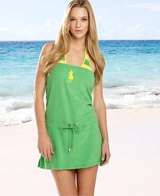 Ralph Lauren Blue Label Terry Romper Cover-Up - Cover Ups Swimwear - Women's  - Macy's