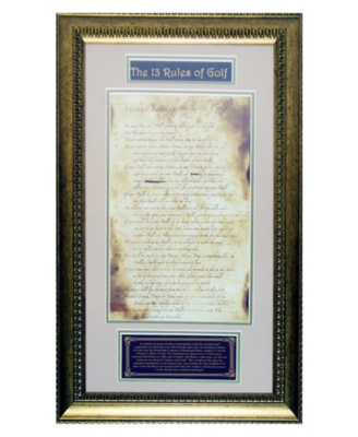 Steiner Sports Original 13 Rules of Golf Framed Collage