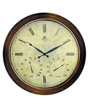 """Infinity Instruments """"Brawny"""" Metal Weather Clock"""