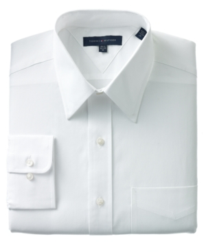 Tommy Hilfiger Dress Shirt, White Pinpoint