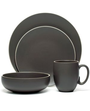 "Vera Wang Wedgwood ""Naturals"" 4-Piece Place Setting, Graphite"