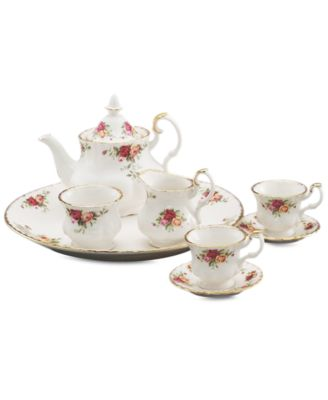 Royal Albert Serveware, Old Country Roses 9 Piece Mini Tea Set