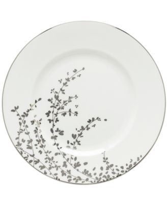 kate spade new york Gardner Street Platinum Dinner Plate