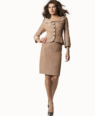 Jones New York Textured Skirt Suit - Skirt Suits Suits - Women's - Macy's :  skirt suits lined retro pencil skirt