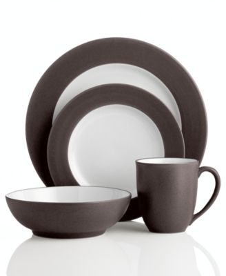 Noritake Dinnerware Colorwave Chocolate Rim 4 Piece Place Setting