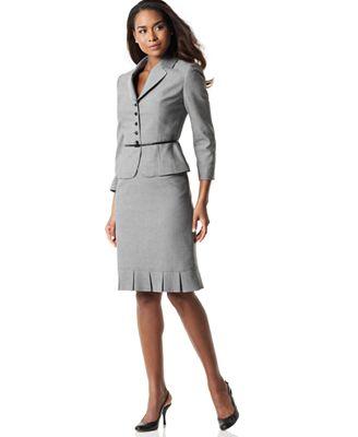 Tahari Belted Skirt Suit