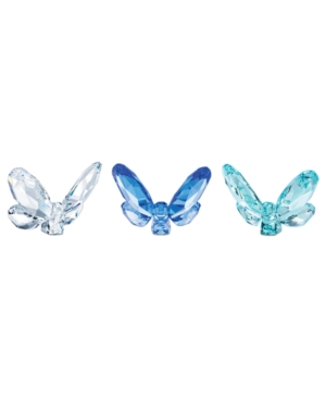 Swarovski Collectible Figurines, Set of 3 Blue Butterflies - Retired