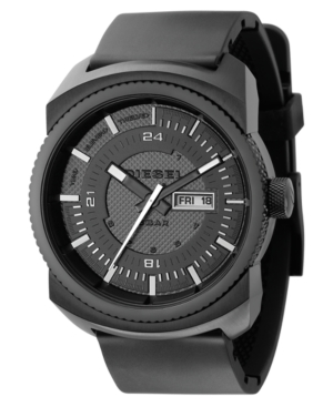 Diesel Watch, Black Polyurethane Strap 47mm DZ1262 $ 160.00