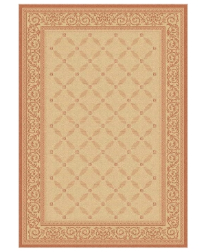 """MANUFACTURER'S CLOSEOUT! Safavieh Area Rug, Courtyard Indoor/Outdoor CY1502-3201 Natural/Terracotta 2' x 3' 7"""""""
