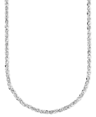 14k White Gold Chain Necklace - Sterling Necklaces