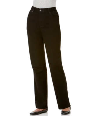 JM Collection Petite Jeans, Straight Leg, Ebony Black