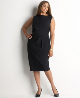 Jones New York Plus Size Dress, Sleeveless with Pleats