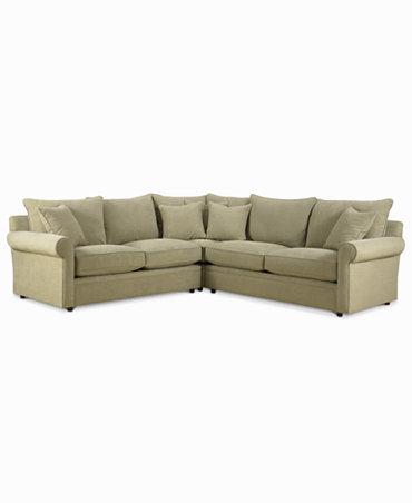 doss fabric microfiber 3 piece sectional sofa furniture