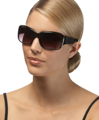 Nine West Rectangle Snake Sunglasses