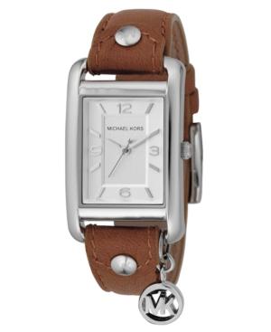 Michael Kors Watch, Women's Brown Leather Strap 38mm MK2165