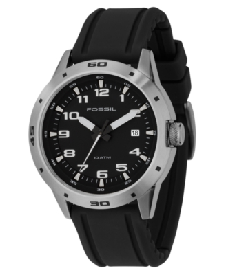 Fossil Watch, Men's Black Silicone Strap AM4239