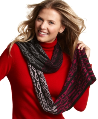 Alfani Scarf, Colorblock Fairlisle