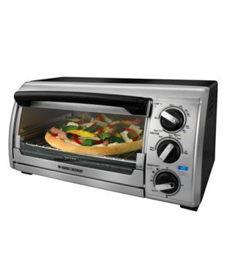 Black & Decker TRO480 Toaster Oven, 4 Slice