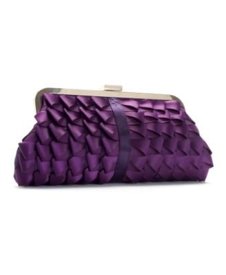Jessica McClintock Handbag, Satin Ribbon Clutch