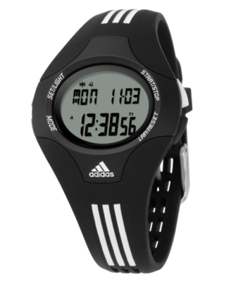 Adidas Watch, Men's Black and White Polyurethane Strap ADP6008 - Sports Watches