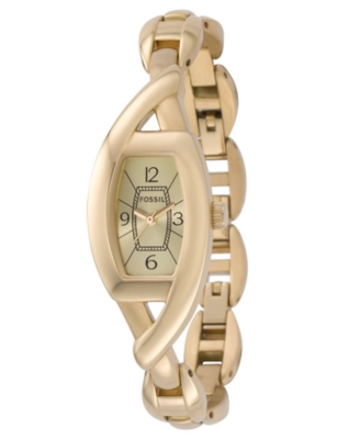 Fossil Watch, Women's Goldtone Stainless Steel Bracelet ES2357