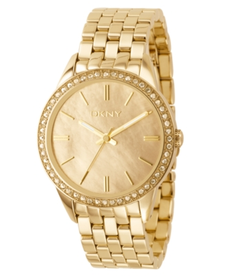 DKNY Watch, Goldtone Stainless Steel Bracelet NY4757 - Gold Bracelet Watch