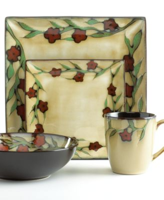 Gourmet Basics by Mikasa Dinnerware, Briar Rose 16 Piece Set