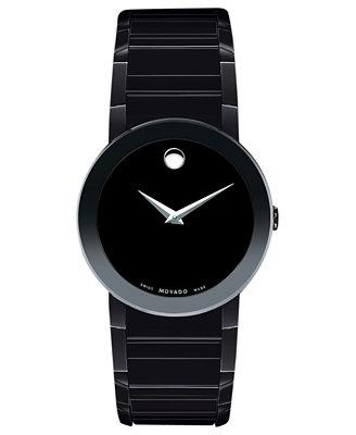 movado s swiss black pvd bracelet 38mm 0606307