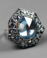 Givenchy Ring, Blue Crystal :  givenchy ring crystal ring statement jewelry cocktail ring