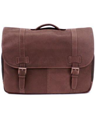 Kenneth Cole Reaction Colombian Leather Laptop Messenger Bag