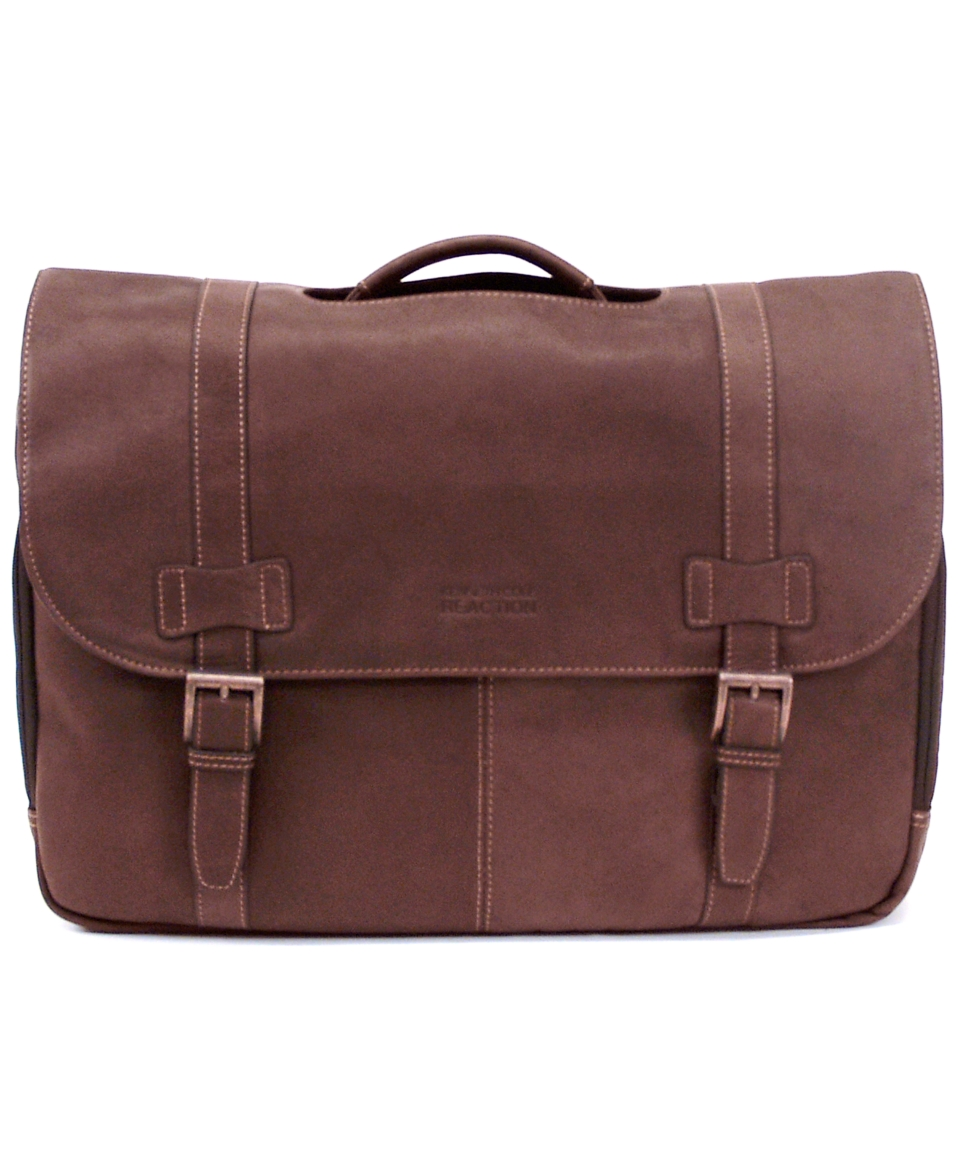Kenneth Cole Reaction Colombian Leather Laptop Messenger Bag   Business & Laptop Bags   luggage