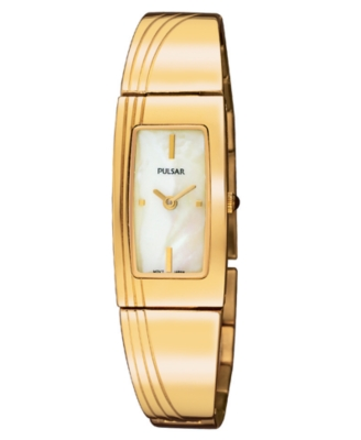 Pulsar Watch, Women's Goldtone Stainless Steel Bracelet PEGD44
