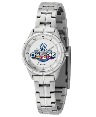 Fossil Watch, Women's Yankees 2009 World Series Champions Stainless Steel Bracelet MLBPR1875