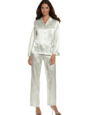 Morgan Taylor Pajamas, Satin Long Sleeve - Pajamas & Intimates