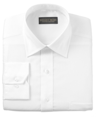Donald Trump Dress Shirt, Non Iron White Twill