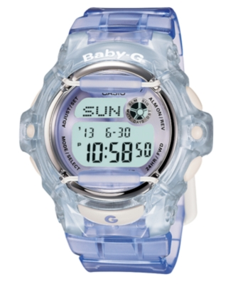 Baby-G Watch, Women's Purple Resin Strap BG169R-6