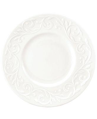 Dinnerware, Set of 4 Opal Innocence Carved Dessert Plates