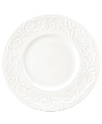 Lenox Dinnerware, Set of 4 Opal Innocence Carved Dessert Plates