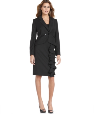 Nine West Suit, Jacket & Ruffled Skirt