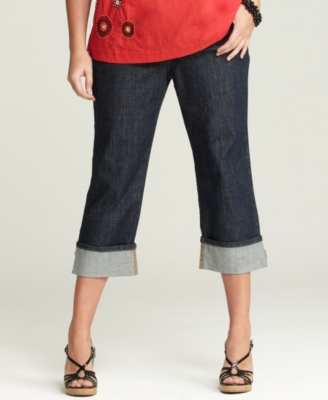Tommy Hilfiger Plus Size Jeans, Hope Cropped New York Rinse