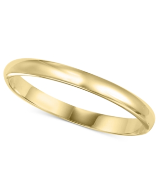 14k Gold Ring, 2 mm Band (Size 4-8)